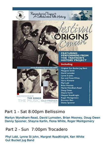 Festival Origins Concert