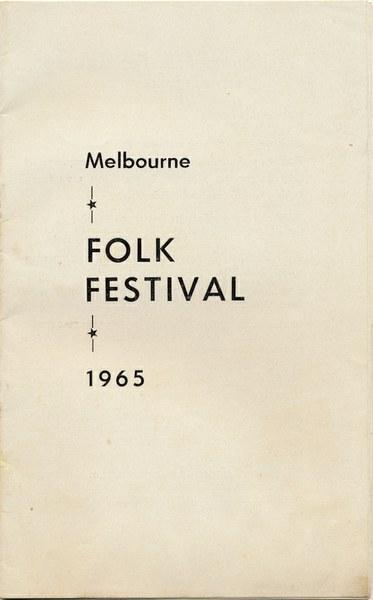 Melbourne Folk Festival 1965